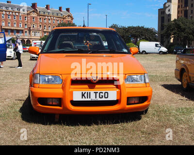 Orange Skoda Felicia - Stock Image