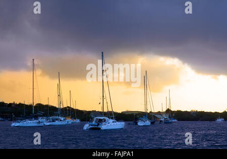 A Stormy Morning in Caracasbaai, Curacao - Stock Image