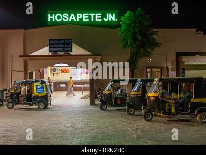 Hosapete JN near Hampi in India - Stock Image