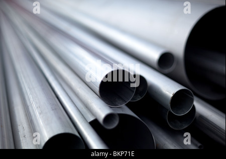 Stainless steel pipes - Stock Image
