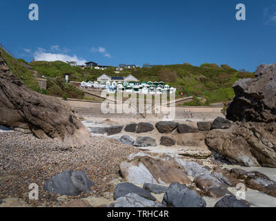 Rotherslade Bay beach, East Langland Bay, Wales, UK - Stock Image