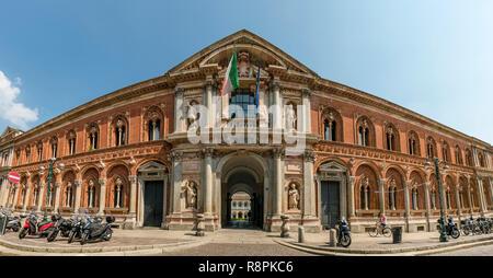 Horizontal streetview of the University of Milan, Italy. - Stock Image