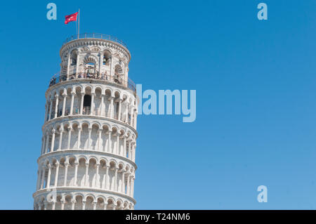 Pisa, the leanig tower in Piazza dei Miracoli field - Stock Image