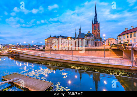 Riddarholmen, Gamla Stan, in the Old Town in Stockholm in the morning, capital of Sweden - Stock Image