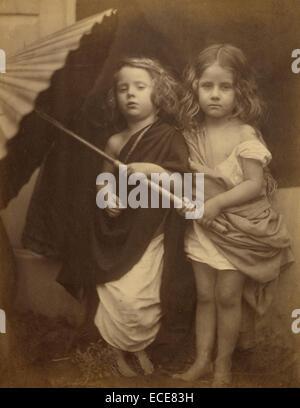 Paul and Virginia; Julia Margaret Cameron, British, born India, 1815 - 1879; Freshwater, England, Europe; 1864; - Stock Image