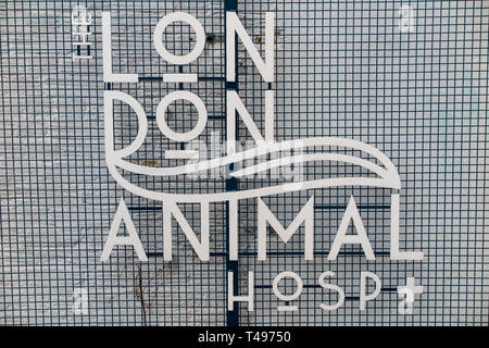 The London Animal Hospital in Camberwell, South East London - Stock Image