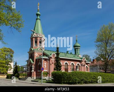 Orthodox church in Kuopio, Eastern Finland. - Stock Image
