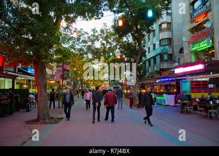Bayindir-1 sokak, main bar street, Kizilay, Ankara, Turkey, Eurasia - Stock Image