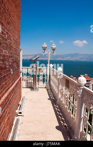 A view of the city from Historical Elevator in Izmir,Turkey - Stock Image