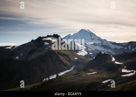 Mt Baker as seen from the Chain Lakes Trail, Mt Baker Wilderness, Washington State, USA - Stock Image