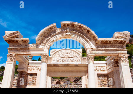 Temple of Hadrian, Ephesus, Turkey, - Stock Image