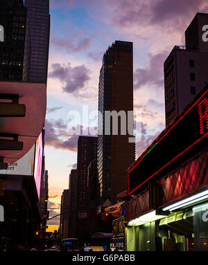Downtown New York in the evening - Stock Image