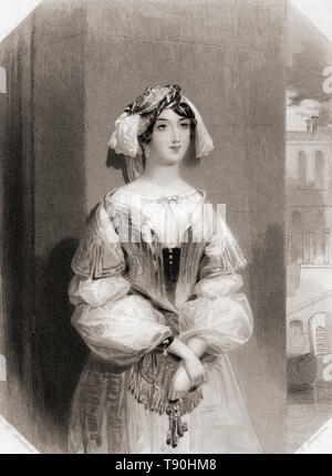 Jessica.  Principal female character from Shakespeare's play Merchant of Venice.  From Shakespeare Gallery, published c.1840. - Stock Image