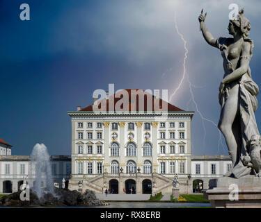 DE - BAVARIA: Nymphenburg Palace at Munich - Stock Image