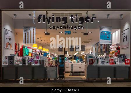 Flying Tiger,Copenhagen,Whitefriars Shopping Centre,Canterbury,Kent,England - Stock Image