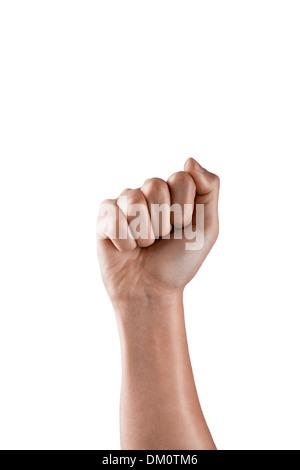 portrait of human hand - Stock Image