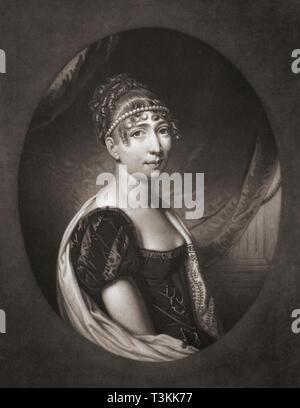 Hortense Eugénie Cécile Bonaparte, née de Beauharnais, 1783 - 1837.  Queen consort of Holland. - Stock Image