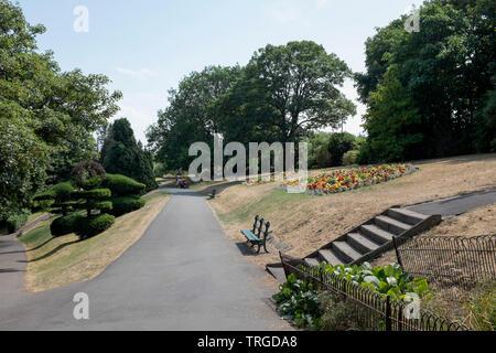 Alexander Park Penarth South Wales - Stock Image