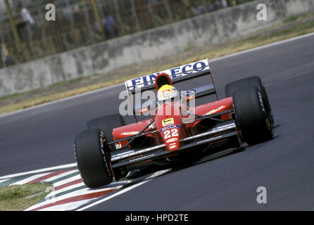 1992 Pierluigi Martini Italian Dallara 192 Imola San Marino GP 6th - Stock Image