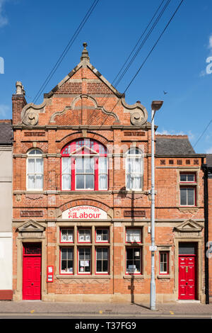 Loughborough, Leicestershire, UK. Unity House, the Victorian headquarters of the local constituency Labour Party (CLP) at 21, Fennel Street - Stock Image