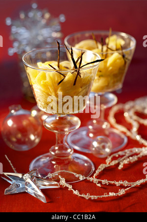 Ananas Tartare with Confit of Fennel - Stock Image