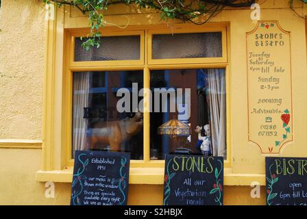 Little pub in Conwy, Wales, uk - Stock Image