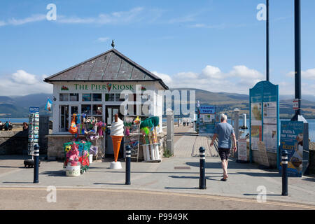 Entrance to the pier, Beaumaris, Anglesey, Wales - Stock Image