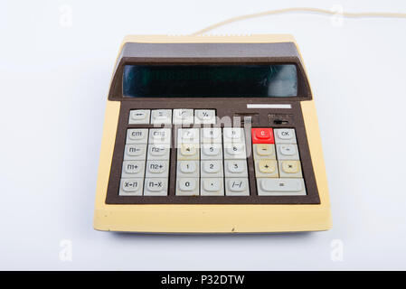 The Vintage calculator - Stock Image