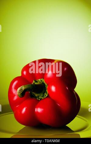 red sweet pepper or bell pepper - Stock Image