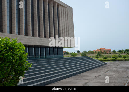 A view of a modern international conference centre in Sipopo, Malabo, the capital of Equatorial Guinea - Stock Image