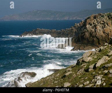 Spain. Galicia. La Coruña province. Cape Touriñan. Landscape. 'Costa da Morte' (Death Coast). - Stock Image