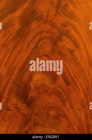 Antique wooden texture showing walnut detail great background for antiquing or old furniture sales. - Stock Image