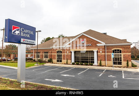 HICKORY, NC, USA-2/17/19: A branch of Capital Bank, FTB advisors, a wealth management group. - Stock Image