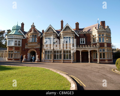 The Mansion, Bletchley Park, Bletchley. Home of the WWII codebreakers who cracked Enigma and other codes. - Stock Image