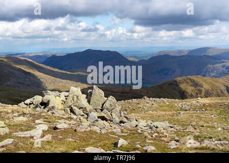 The View North towards Place Fell and the Pennines from Dove Crag, Lake District, Cumbria, UK - Stock Image