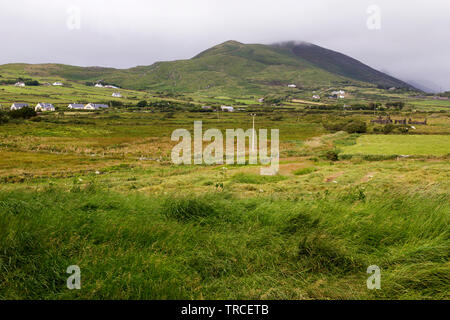 View towards Castleguin Hill close to the town of Cahersiveen in County kerry,Ireland. - Stock Image