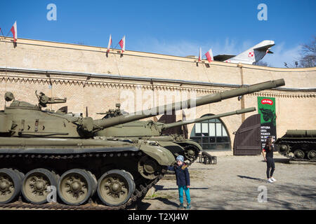 The military Museum of Armaments in Park Citadel /  Cytadelan park Poznan Poland - Stock Image