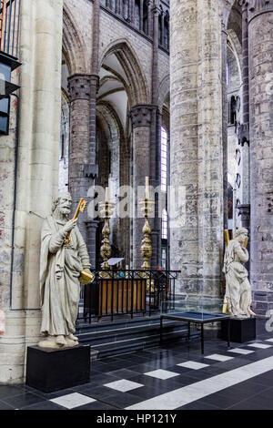 Saint Nicholas Church Ghent - Stock Image