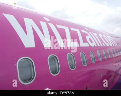 Wizzair jet, Hungarian airline company - Stock Image