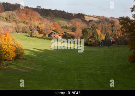 valley views at Seale near Guildford & Farnham, Surrey, England - Stock Image