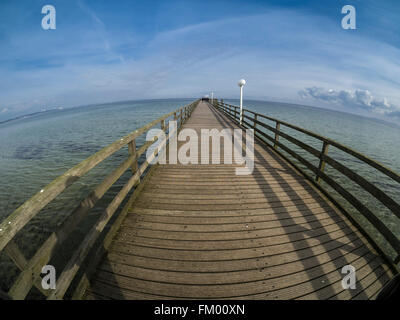 Pier at Scharbeutz, Baltic Sea, near Luebeck, Germany - Stock Image
