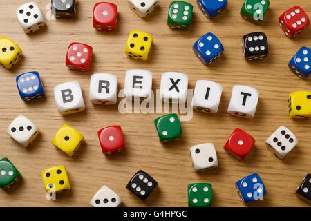 Still life studio concept image for the UK referendum on membership of the EU - Stock Image