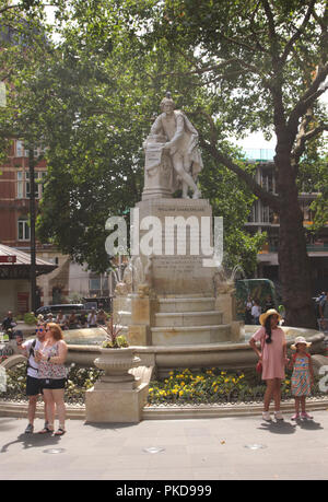 William Shakespeare Statue Leicester Square London August 2018 - Stock Image