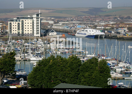 Newhaven Harbour, East Sussex, UK - Stock Image