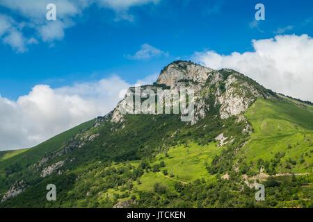Area around Castet lake, Pyrénées-Atlantiques, France. - Stock Image