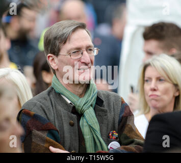 London, UK. 23rd Mar, 2019. Dominic Grieve, Conservative MP and former DPP, before speaking at the  People's Vote March and rally, 'Put it to the People.' Credit: Prixpics/Alamy Live News - Stock Image