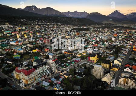 Sunrset over Ushuaia - Stock Image