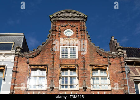Gabled end of a building in central Haarlem, the Netherlands. - Stock Image