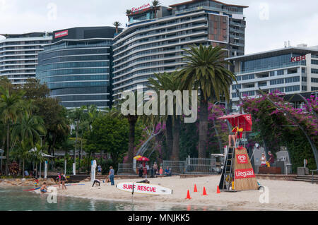 Streets Beach in the South Bank Parklands, Brisbane, Queensland, Australia - Stock Image
