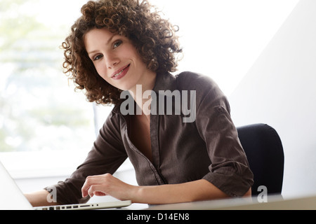 portrait of young businesswoman - Stock Image